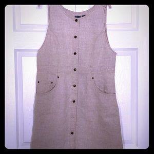 Perfect Linen Jumper Liz Claiborne Large Dress